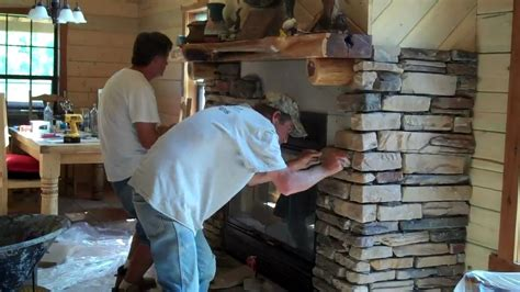 How To Put Out Fireplace by Rock Installation On Fireplace By Gary Own