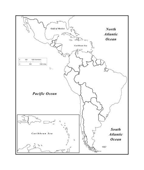 america outline map pdf maps of the americas page 2