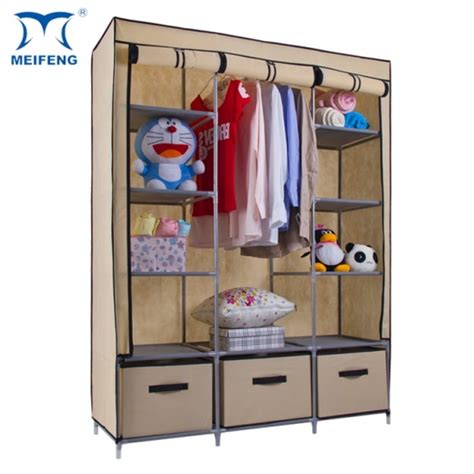 Temporary Wardrobe by How To Maintenance Meifeng Canvas Clothes Closet From