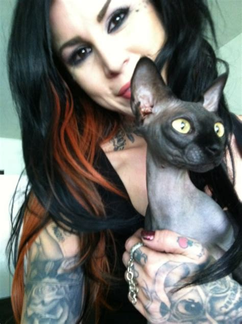 tattoo cat la ink kat von d like her or not she is an amazingly