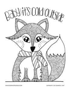 Christmas Fox Coloring Page | new christmas coloring pages coloring pain d epices and
