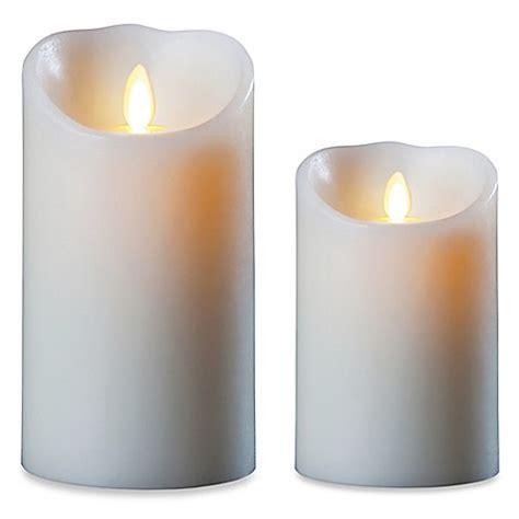 luminara candles luminara 174 real effect pillar candle in ivory www bedbathandbeyond