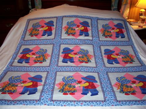 Quilt Cheater Fabric by Sunbonnet Sue And Sam Cheater Quilt Cotton Fabric Bty By