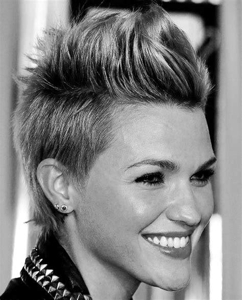 short faux hawk hairstyles for women hair on pinterest girl mohawk undercut and mohawks