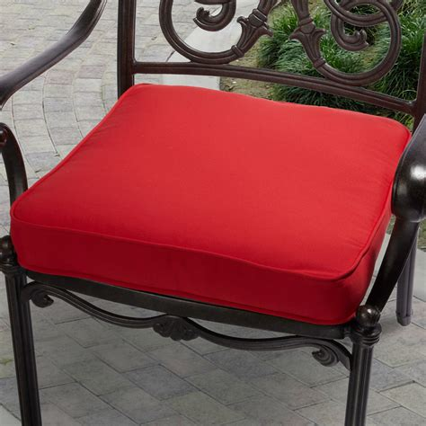 Patio Chair Cushion Fabric Indoor Outdoor 20 Inch Solid Traditional Chair Cushion
