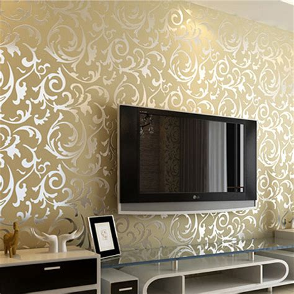 waterproof wallpaper for walls simple european buttercup broom leaf embossed wallpaper