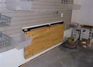 bench solutions fold away workbench garage storage