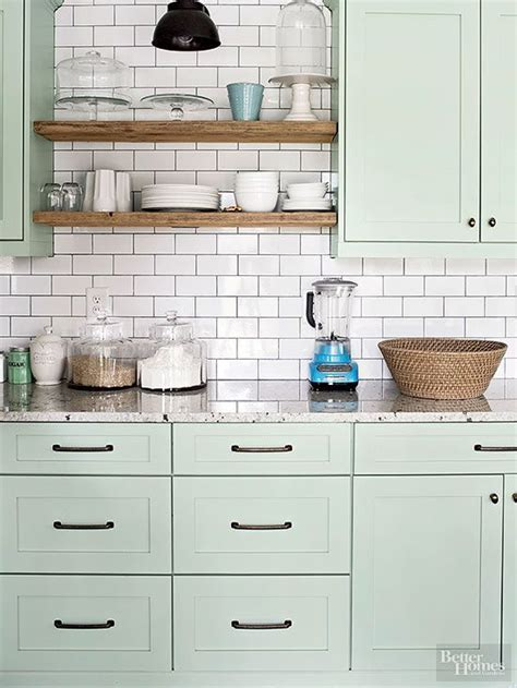 Kitchen Cabinet Colours Popular Kitchen Cabinet Colors Paint Colors Green Cabinets And White Subway Tile Backsplash