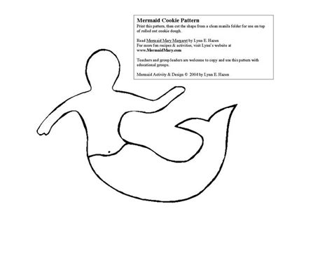 free mermaid stencil coloring pages