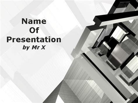 architecture presentation template buildings and architecture powerpoint templates and