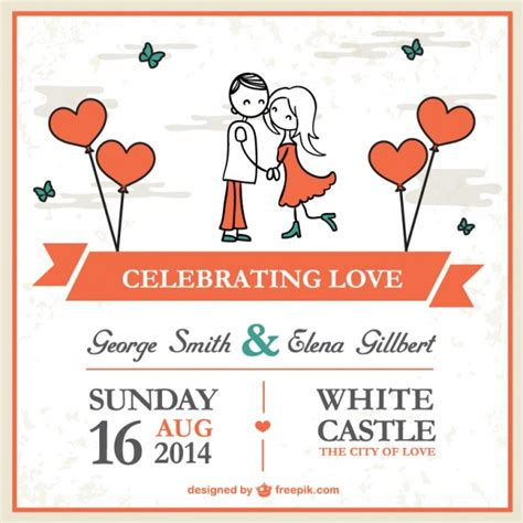 free vector template wedding card wedding card template vector free