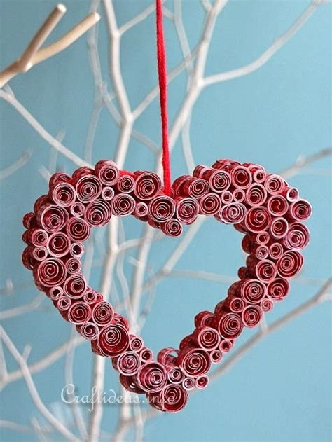 heart quilling pattern quilled paper heart decoration allfreeholidaycrafts com