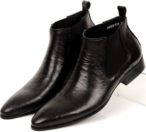 mens business boots f black brown pointed toe mens business shoes ankle