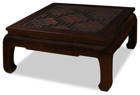 ming style square coffee table asian coffee tables