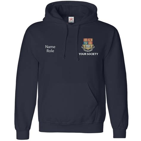 hoodie embroidery design personalised classic uni hoodie with left breast