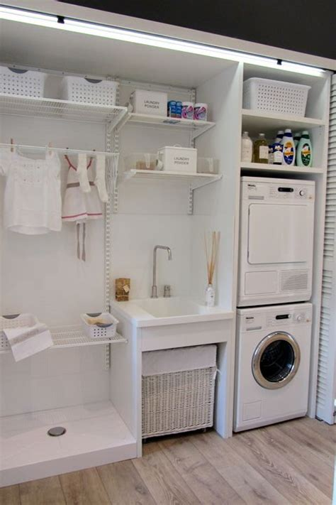 Laundry Room Storage Systems White Laundry Room Clever Storage Solutions Interior Basket Idee Per La Lavanderia