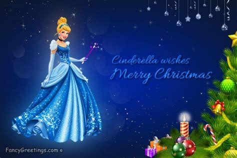 cinderella christmas  greeting card send  cinderella christmas  ecard wishes