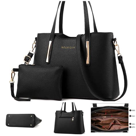 Set 2in1 Meisy Black jual b1818 black tas selempang import 2in1 grosirimpor