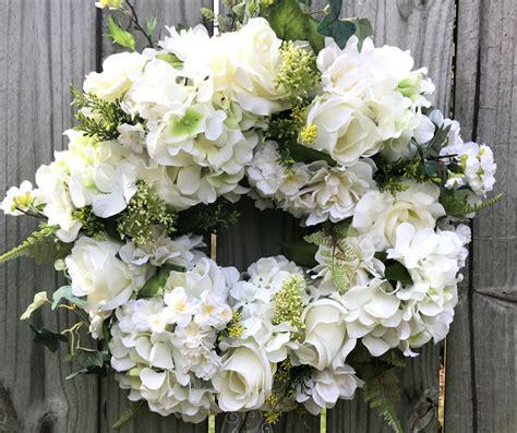 elegant wedding wreath  front door