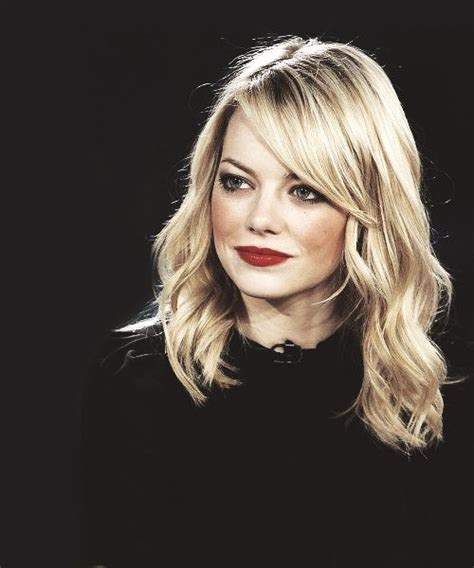 emma stone lob haircut loose waves h m n pinterest bobs waves and emma