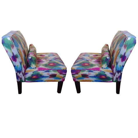 Multi Colored Accent Chairs by Multi Colored Accent Chairs A Pair Chairish