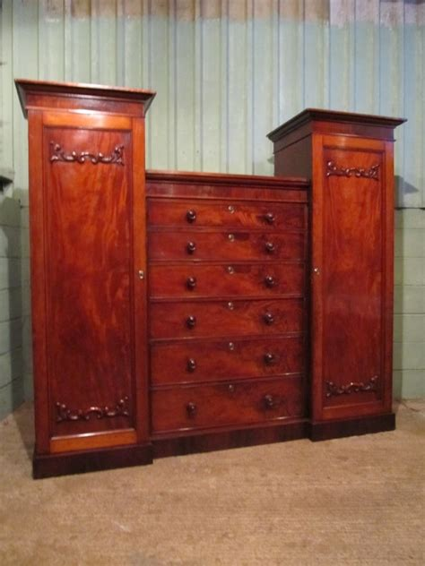 Mahogany Magic Wardrobe by Antique Antique Mahogany Breakfront Wardrobe Compactum C1860 Antiques Co Uk
