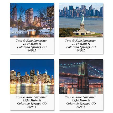 label design nyc new york select return address labels colorful images