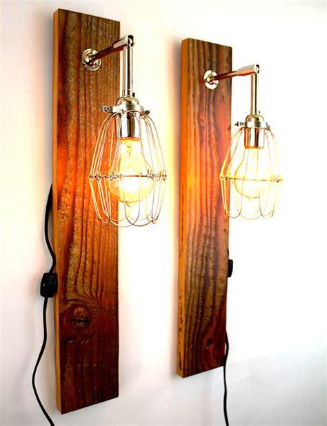 Handmade Lighting - rustic handmade ls created with reclaimed wood the