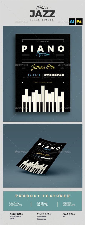Piano Recital Flyer Template Recital Flyer Template And Piano Recital Poster Template