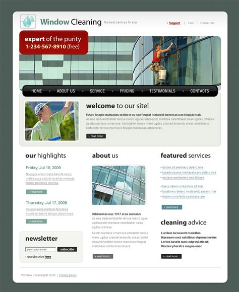 window cleaning website template 23801