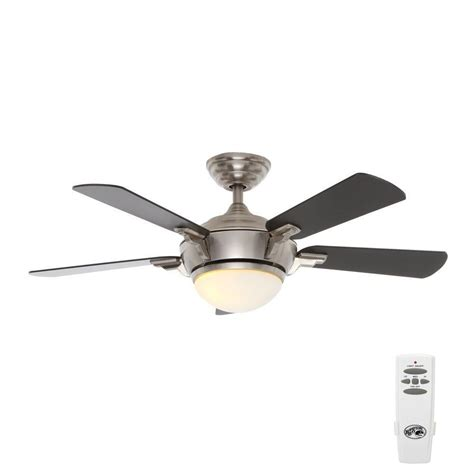 hton bay brushed nickel ceiling fan hton bay midili 44 in indoor brushed nickel ceiling