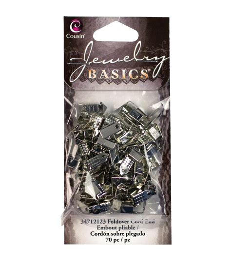 metal findings for jewelry jewelry basics metal findings silver small foldover ends
