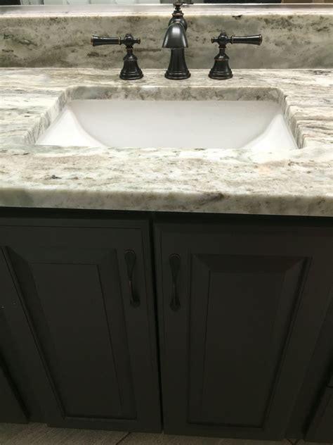 fantasy brown quartzite counter top long vanity bathroom