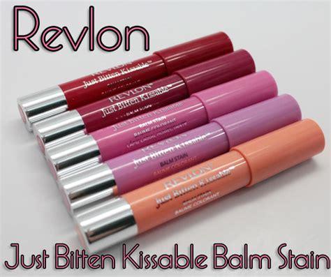 Lipstik Revlon Just Bitten revlon just bitten kissable balm stain swatches photos