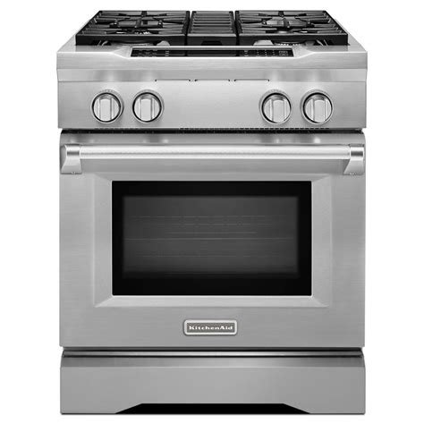 kitchenaid commercial style ii 4 1 cu ft slide in dual