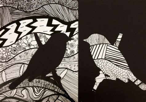 Drawing 7th Class by 317 Best Notan Positive Negative Space Images On