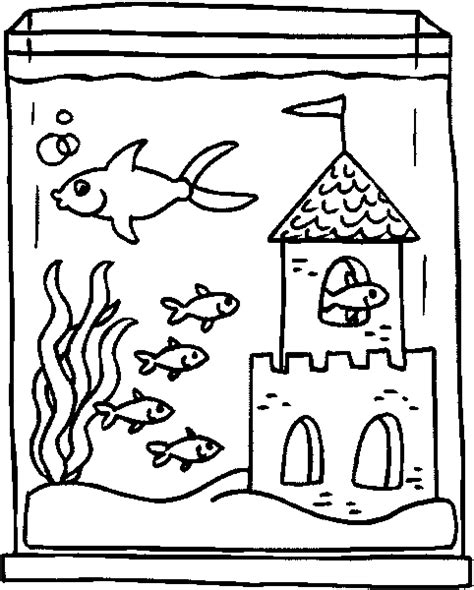 Aquarium Coloring Pages Coloringpages1001 Com Aquarium Coloring Page