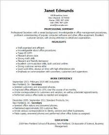 Secretary Resume Templates Professional Secretary Templates To Showcase Your Talent