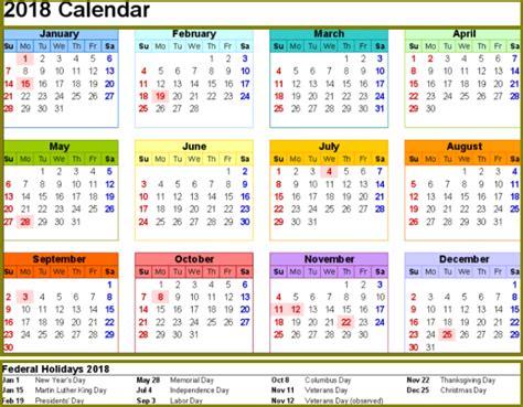printable calendar 2018 usa 2018 calendar with bank holidays archives printable