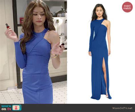 Dress Kc wornontv kc s blue one sleeved gown on kc undercover