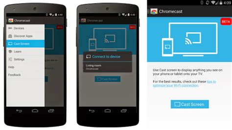 chromecast app for android chromecast mirroring added for sony xperia z3v z2 and z2 tablet android authority