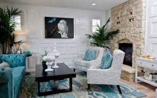 Turquoise And Black Living Room - decorating with turquoise colors of nature aqua exoticness