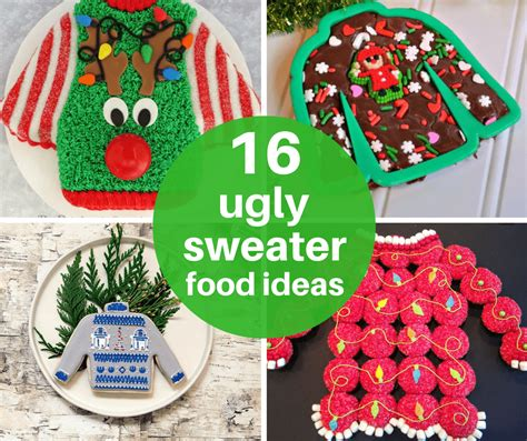 ugly sweater christmas party food idea bronze cardigan