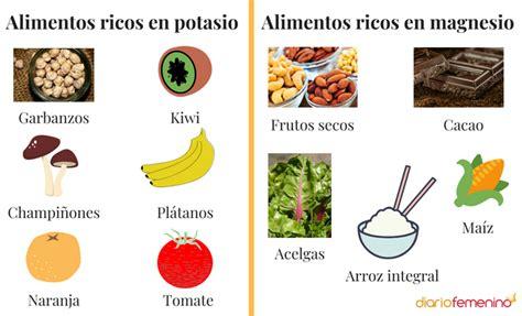 que alimentos contienen magnesio qu 233 alimentos son ricos en potasio y magnesio