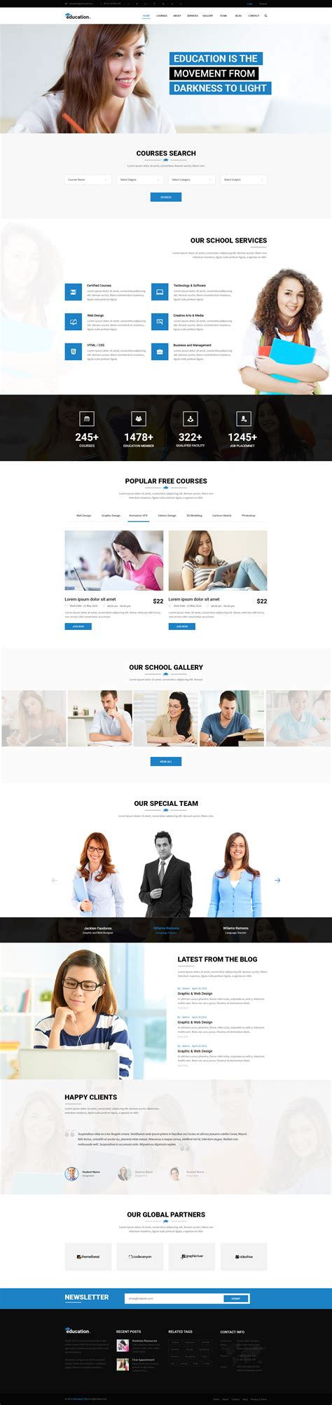 education theme bootstrap education learning bootstrap psd template by webstrot