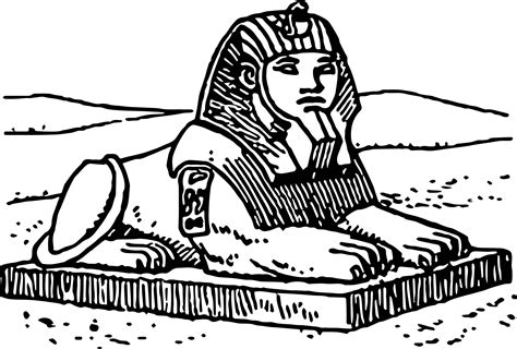 egypt sphinx coloring pages sphinx coloring page wecoloringpage