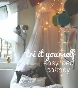Diy Canopy Bed Dorm by Diy Simple And Easy Dorm Bed Canopy Diy Pinterest
