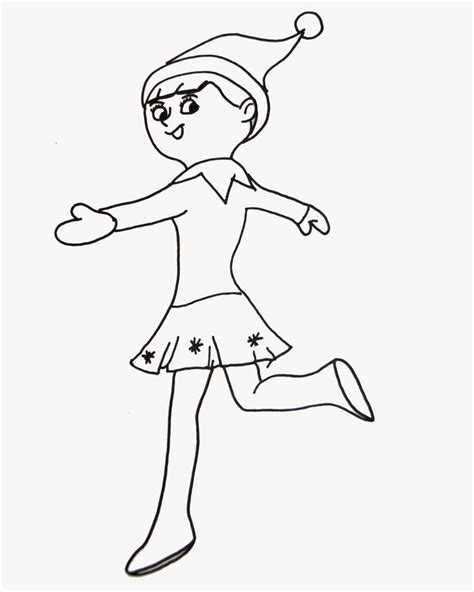 printable coloring pages elf elf on the shelf color pages coloring home