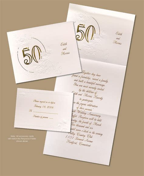 golden wedding invitations cool wedding anniversary invitation cards remarkable with 50th anniversary celebration