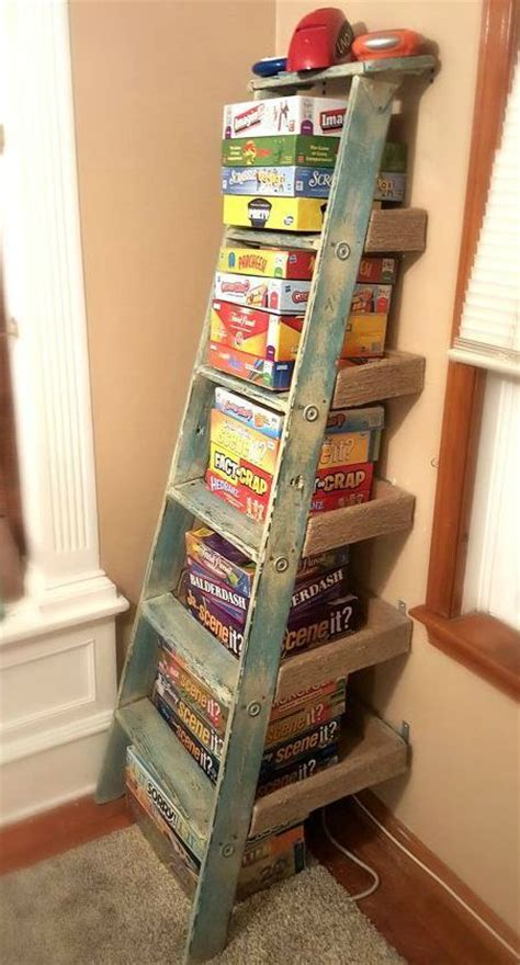 game storage ideas 1000 ideas about old ladder decor on pinterest old